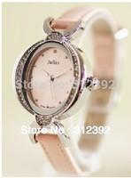 Authentic JULIUS Brand Korea Design Women's Watch Fashion Luxury Excellent Quality Leather Band Oval JA-653