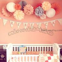 "10pcs 8"" (20cm) Tissue Paper Pom Poms Flower Balls Wedding Party Decoration Baby Shower free shiping"