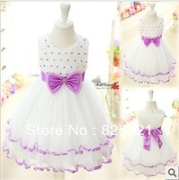 Free Shipping Hot !Promotion!2013New Items Children Girls Dress Baby Princess Dress Dance Dresses For Kidsfor 4-12Years 5 Colors