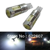 2pcs 7.5W Plasma High Power T10 LED Bulbs For Car Backup Reverse Lights  912 921 T15 Reverse Backup Light White Red Bule Amber