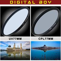 Digital Boy 77mm Circular Polarizer +UV filter Cokin Filter for Digital Cameras Fast Delivery