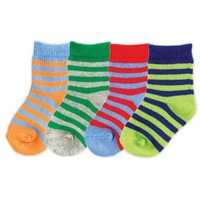 4pair/lot Free Shipping USA Luvable Friends 4-Pack Colorful Socks,0-36months