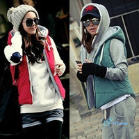 Hooded Magazine Zipper Clothing High Quality Cashmere Fashion Good Quality Casual All-Match 2014 Tops Women Vest