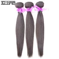 100 % virgin unprocessed brazilian hair natural straight weave 3pcs/lot natural color 1b#, free shipping