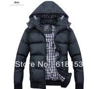 2013 free shipping, fashional cotton-padded winter jacket men winter coat men outdoor jacket thick parka down brand military