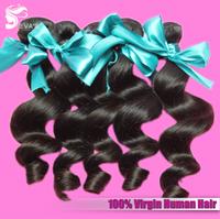 "EVAS Hair 3pcs/lot Malaysian Natural Loose Wave 6A EVAS Virgin Hair Extension Can Be Dyed, Free Shipping Mixed Length 12""-28"""