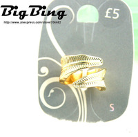 BigBing Fashion Fashion jewelry fashion gold alloy punk ring c3-900  free shipping  T870
