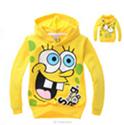 xlbb7 spongebob hoodie 2-8 age children hoodies boys hooded sweater 6pcs/ lot free shipping