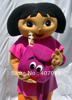 Dora costume mascot ADULT size POLY FOAM EVA head shipping to worldwide