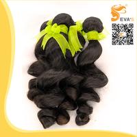 Brazilian Loose wave 6A grade 2pcs/lot loose wave brazilian virgin hair extension unprocessed natural color human hair weaves