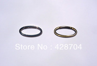 "1 1/2 ""  Oval Shaped Spring Gated Ring (Nickel, Gold Finish) -  50pcs"