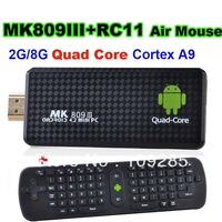 Quad core Google TV Box MK809III Android  Bluetooth Wifi Google TV Player HDMI MK809 III with RC11 Air mouse wireless keyboard