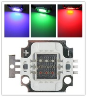 10W RGB LED Lamp Chips 300MA 6-12V LED Bulb Chips Red Green Blue Square Design 10Pcs/Lot