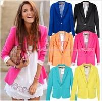 WOMAN SUIT BLAZER FOLDABLE BRAND JACKET women clothes suit one button shawl cardigan Coat