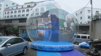 FREE SHIPPING 2014 New Arrival High Quality Snow Ball Inflatable Clear Ball Dome Christmas Decoration Activity Exhibition 4m