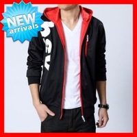 2013  New  Men's  Big   Size (M-5XL)   Black  Casual Hooded Sweatshirt  G1533