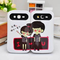 Cartoon Lover Mobile Phone Case For Samsung I9082/Galaxy Grand Noctilucent Silicone Phone Cover Case 5pcs/lot  Multicolor A1093