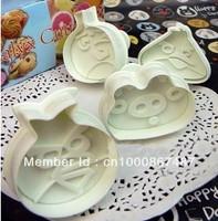 1set/4pcs cake Decorating tools,Fondant Cake Cookie Mold ,  birds Plunger Cutter DIY