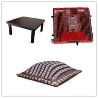 (4pcs/set) Free Shipping Living Room Set Kotatsu Furniture Foot Warmer Heated Low Black  Small Table 75cm Kotatsu Futon Heater