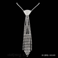 Necklace Tie Jewelry Shiying Sexy Accessories, Rhinestone Necktie 101109 + Cheaper price + Free Shipping Cost + Fast Delivery