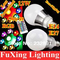 Innovative items AC 85-265V RGB LED Lamp 12W E27 led Bulb Lamp with Remote Control led lighting free shipping,cristmas