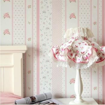 rosa blumen tapete blume pvc tapeten f r kinder schlafzimmer prinzessin tapeten kinder rollen. Black Bedroom Furniture Sets. Home Design Ideas