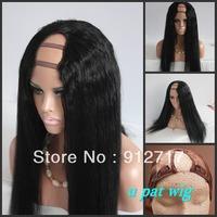 2013 NEW Malaysian hair u part wigs Yaki straight Freeshipping #1#1b#2#4#6available