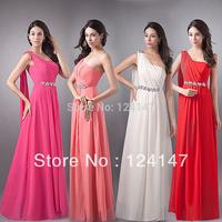 AQ Fashion new One shoulder chiffon bridal formal dress toast hottest selling dress dress oblique long design 2013