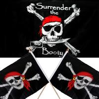 Caribbean Ghost Head Flag A Skull&Crossbones Pirate Flag XXL Size For Halloween Decoration Bar Terrorist Party
