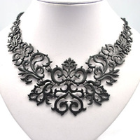 Newest Costume Jewelry Designer Fashion Exaggerated Hollow carved flower collar women chokers Necklace Free shipping !