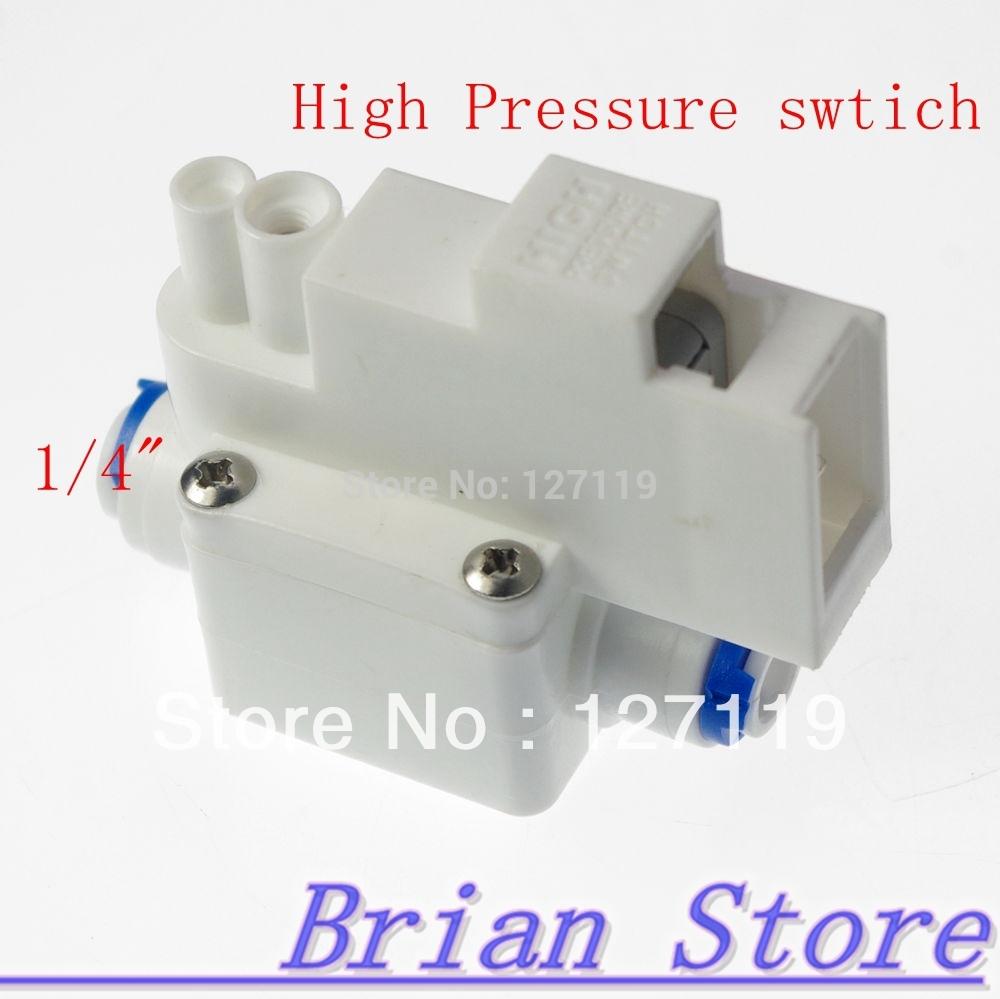 reverse osmose tanque de alta pressão interruptor aquário ro água 1/4 d