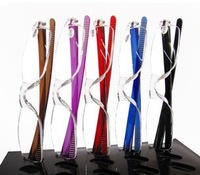 (100 pieces/lot) Colorful Fashion bendable plastic reading glasses multi-colors +100,+150,+200,+250,+300,+350,+400