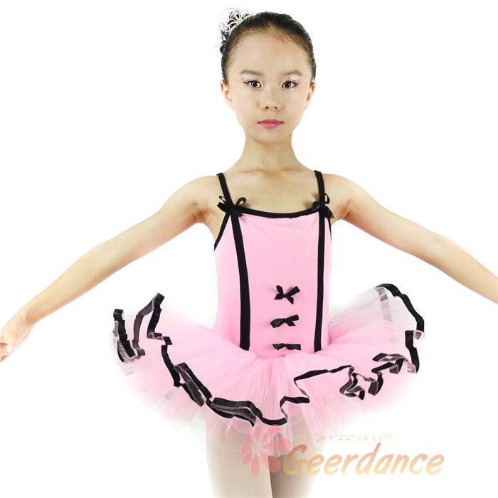 High Quality! ribbons edged tutu, child dance tutu, costumes for kids, kids ballet tutu, ballet dress(China (Mainland))