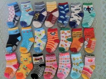 Free Shipping ( 10 pairs/lot ) 100% Cotton Baby Socks Rubber Slip-resistant Floor Socks Cartoon Small Kid's Cotton Socks TW002