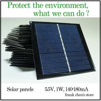 Solar Panel, 5.5V 1W Solar Panels, Small Solar Panel Power Supply System