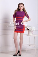 New arrival Autumn Europe and American style women knit dress with easy style three colors for sweat heart girls