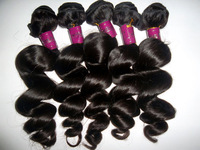 "12""-24""  Queen Hair Products Brazilian Loose Wave 4 Bundles Cheap Human Hair Weave Free Shipping"