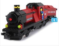 Enlighten Building Blocks Hot Toy Train Steam Locomotive Educational Construction Bricks Toys for Children Gift Free Shipping