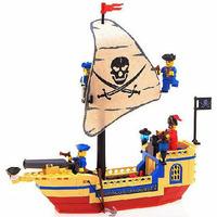 Enlighten Building Blocks Hot Toy Pirate Ship Pearl Assembling Blocks Toys for Children Compatible