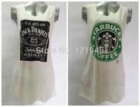Free shipping women clothing dresses summer  cotton casual solid print sleeveless women tank dress