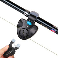 Hot Sale New Outdoor LED Light Clip Rod Electronic Fishing Fish Bite Alarm Bell Battery Free Shipping