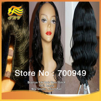 New arrival Brazilian Hair U Part Wig Top Quality jet black #1 Yaki Body Wave 1x3 small part Human Hair U Part Wig