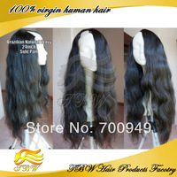Brazilian Virgin Human Hair U Part Wig Loose Body Wave Natural color Right Part 130%-150% Density in stock