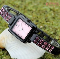 New 2013 Hot Sale KIMIO Fashion Women Watches Ladies Rhinestone Diamond Wristwatch 5 color Women's Dress Watches