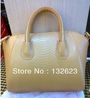 Snake Print leather bag woman bag Discount fashion design women size: 40*30*20CM free shipping