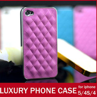 Luxury  wholesales Designer Case For Apple iPhone 5 5g PU Mesh Leather Fashion Cell Phone Cover Shell For iPhone5