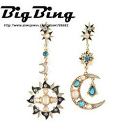 BigBing Fashion  fashion jewelry  quality Helios Luna romantic earring   J582