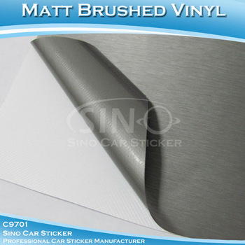 "40x152CM 16""x60"" Free Shipping Brushed Gold/Silver/Grey/Black Vinyl Film/Car Body Wrapping Sticker"