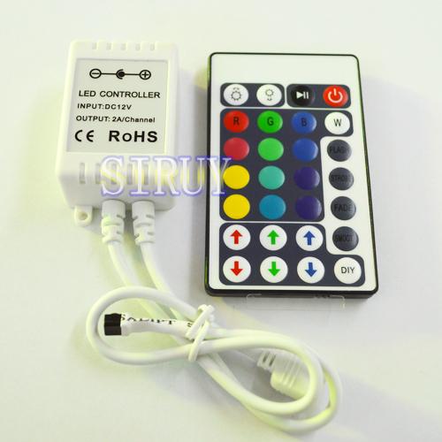 RGB контролер SIRUY DC12/24v 6A 28Key RGB 5050 ILP-0258