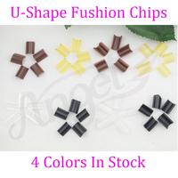 free shipping 100pcs Keratin glue nail Nail Tip Keratin U-Shaped Fusion Chips Glue Nail Tip Keratin Nail Tip for hair extension